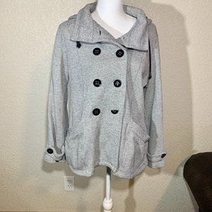 Sebby Grey Pea Coat / Sweater Coat Size Medium